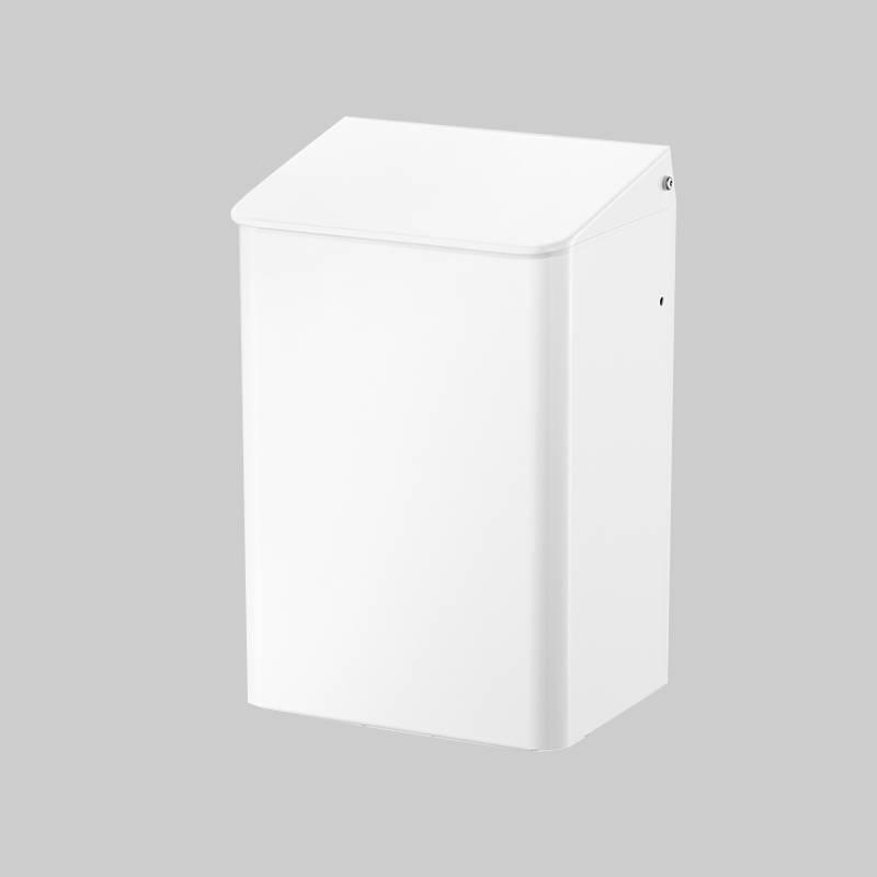 Hygieneabfallbehälter Aluminium weiß
