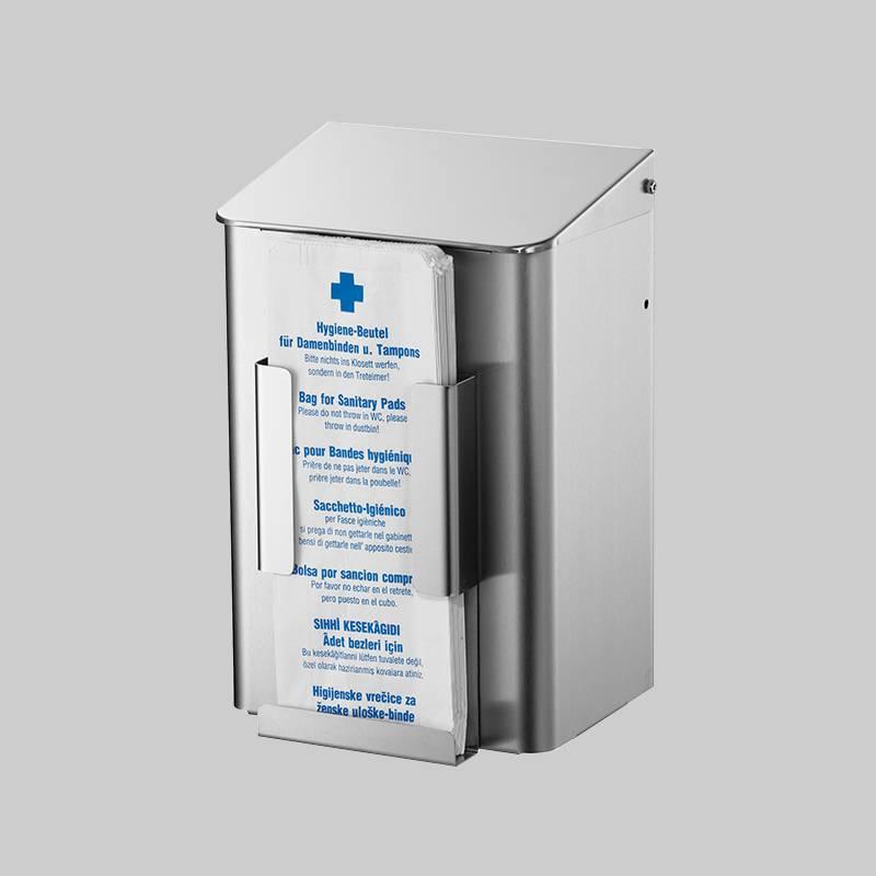 Hygieneabfallbehälter mit Beutelspender Edelstahl