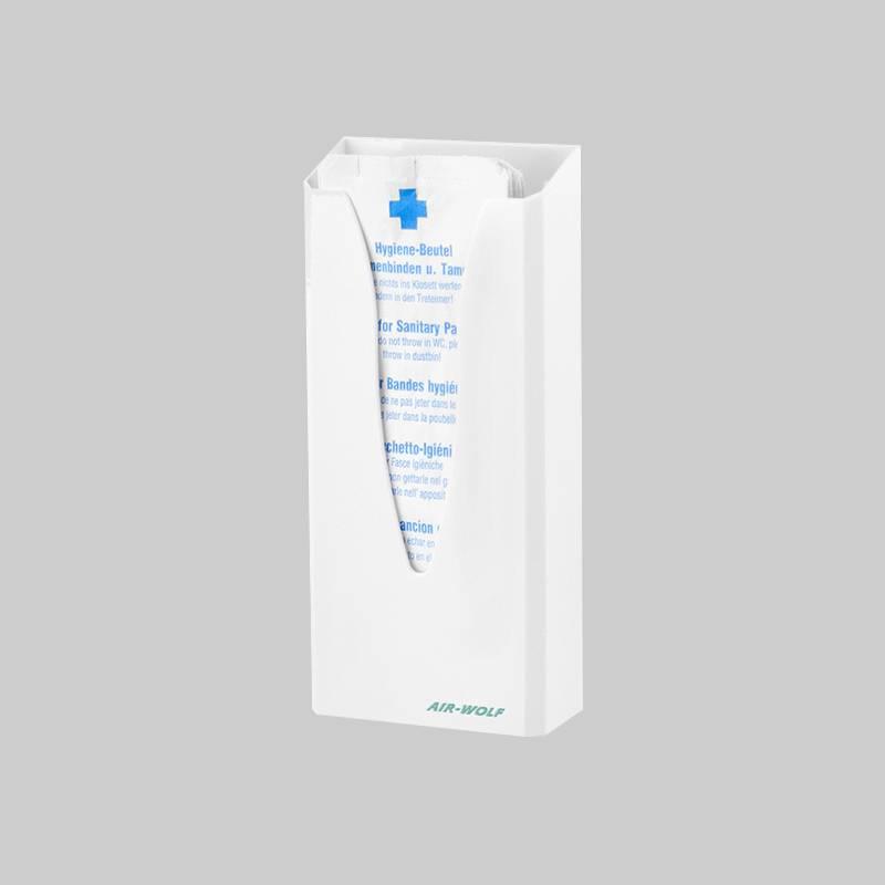 Plastic hygiene bag dispenser