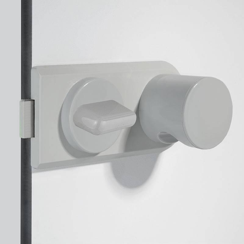 Aluminium-Schlosskasten, pulverbeschichtet mit Nylon-Zugknopf
