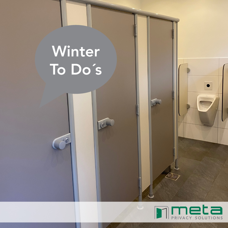 Winter To Do´s: ❄️☃️ The sanitary rooms – Go for it! ❗️🏕️
